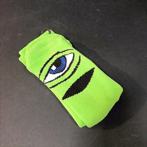 Toy Machine Sect Eye lime green socks