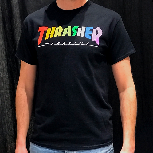 Thrasher Rainbow Logo Black