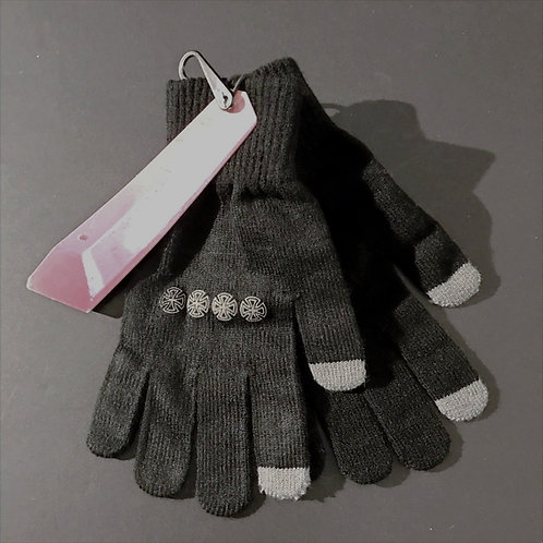 Independent Knitted Black Gloves