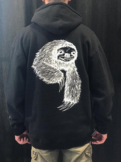 Welcome Sloth Hoodie Black