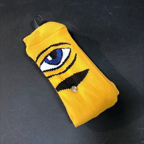 Toy Machine Sect Eye dark yellow socks