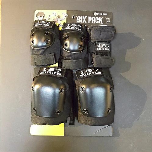 187 Killer Pads 6 Pack black