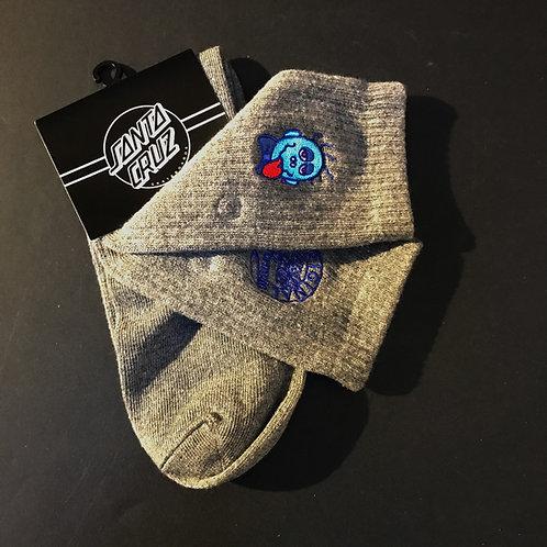 Santa Cruz Grosso Face Socks Grey