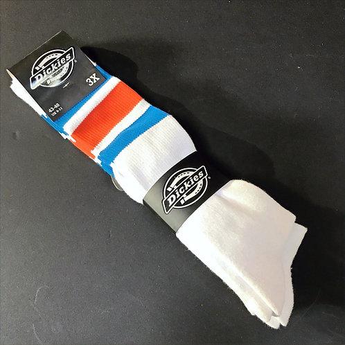 Dickies 3 Pack Socks Blue & Red Stripes