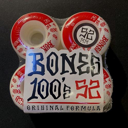 Bones 100's 52mm