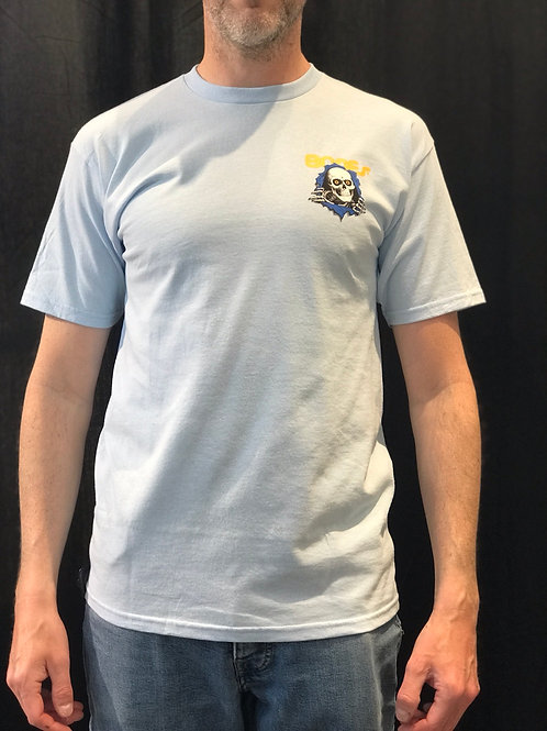 Powell Peralta Bones Ripper Light Blue T-Shirt