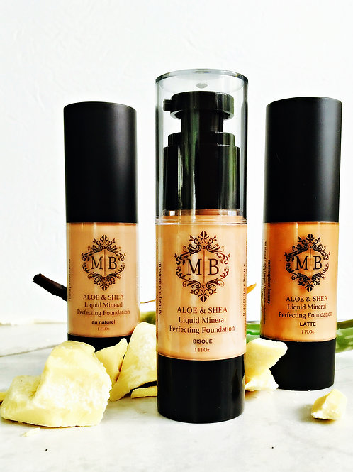 SHEA & ALOE ORGANIC LIQUID FOUNDATION