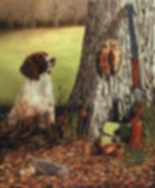 oil painting, dog painting, spaniel painting, oil painting