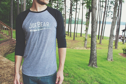 JoeBear Baseball Tee - Black/Gray