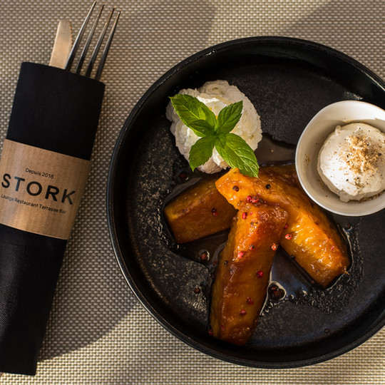 Ananas roti - restaurant le stork