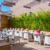 la terrasse du Restaurant bar Stork Selestat