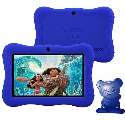 "Contixo K3 7"" Kids Tablet, Android 6.0 Dual Cameras Parental Controls (DarkBlue)"
