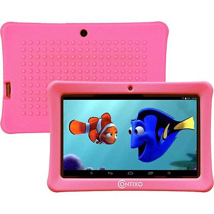 "Contixo K1 7"" Kids Tablet, Android 6.0 Dual Cameras Parental Controls (Pink)"