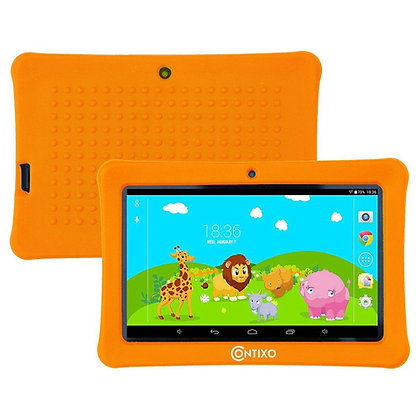 "Contixo K1 7"" Kids Tablet, Android 6.0 Dual Cameras Parental Controls (Orange)"