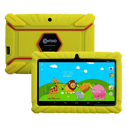 "Contixo K2 7"" Kids Tablet, Android 6.0 Dual Cameras Parental Controls (Yellow)"