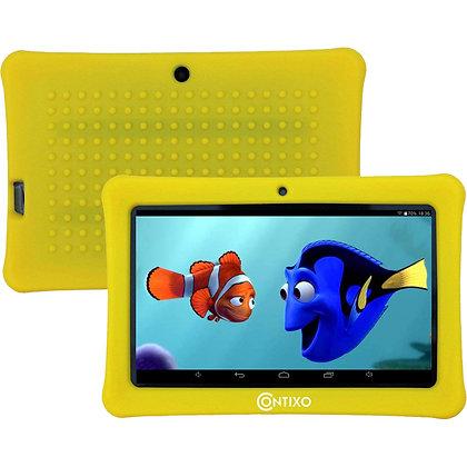 "Contixo K1 7"" Kids Tablet, Android 6.0 Dual Cameras Parental Controls (Yellow)"