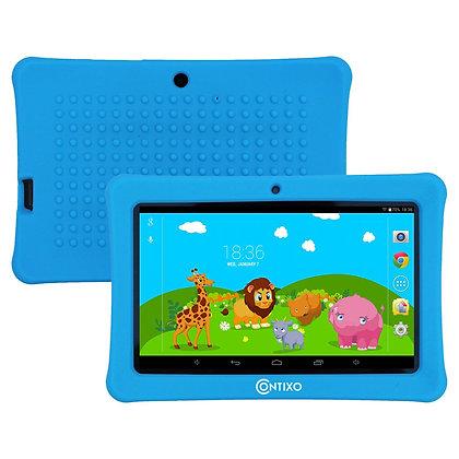 "Contixo K1 7"" Kids Tablet, Android 6.0 Dual Cameras Parental Controls (Blue)"