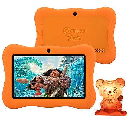 "Contixo K3 7"" Kids Tablet, Android 6.0 Dual Cameras Parental Controls (Orange)"