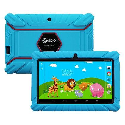 "Contixo K2 7"" Kids Tablet, Android 6.0 Dual Cameras Parental Controls (Blue)"