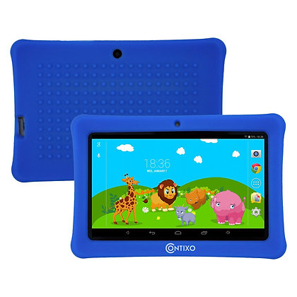 "Contixo K1 7"" Kids Tablet, Android 6.0 Dual Cameras Parental Controls (DarkBlue)"