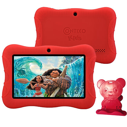 "Contixo K3 7"" Kids Tablet, Android 6.0 Dual Cameras Parental Controls (Red)"