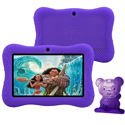 "Contixo K3 7"" Kids Tablet, Android 6.0 Dual Cameras Parental Controls (Purple)"