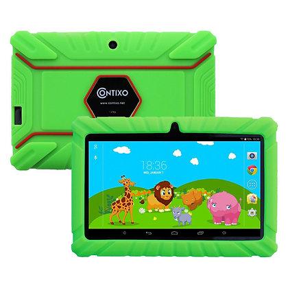 "Contixo K2 7"" Kids Tablet, Android 6.0 Dual Cameras Parental Controls (Green)"