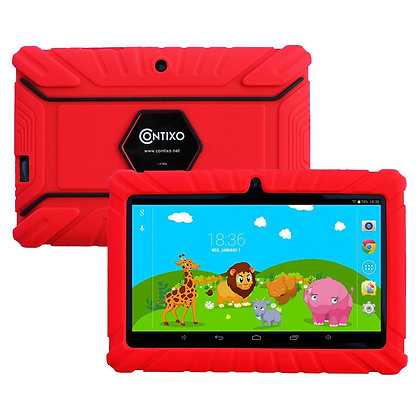 "Contixo K2 7"" Kids Tablet, Android 6.0 Dual Cameras Parental Controls (Red)"