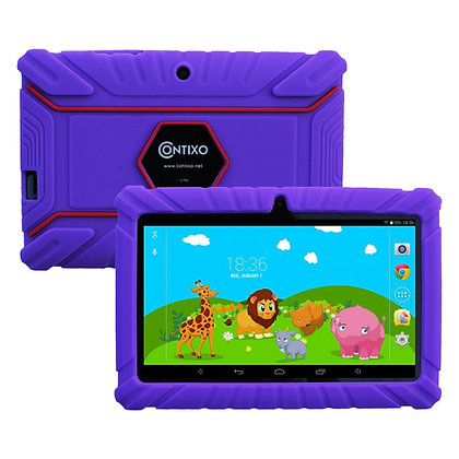 "Contixo K2 7"" Kids Tablet, Android 6.0 Dual Cameras Parental Controls (Purple)"