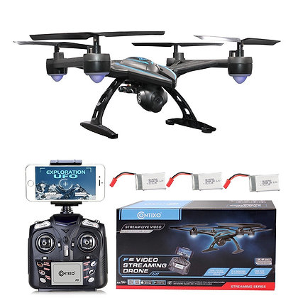 F5 Bundle Contixo FPV RC Quadcopter Drone with 3 batteries