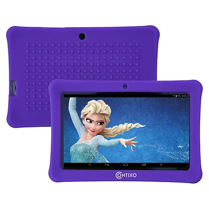 "Contixo K1 7"" Kids Tablet, Android 6.0 Dual Cameras Parental Controls (Purple)"