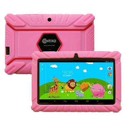 "Contixo K2 7"" Kids Tablet, Android 6.0 Dual Cameras Parental Controls (Pink)"