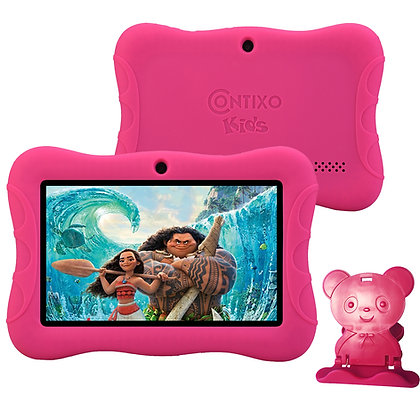 "Contixo K3 7"" Kids Tablet, Android 6.0 Dual Cameras Parental Controls (Pink)"