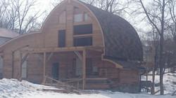Круглая крыша дома монтаж