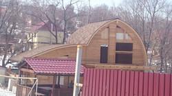 Круглая крыша дома монтаж Владивосток