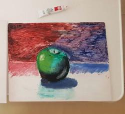 Яблоко, масло. Автор Евгений