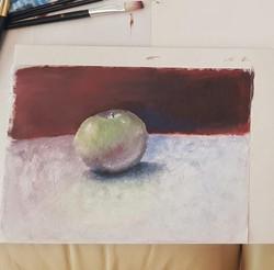 Яблоко, масло. Автор_ Виктория