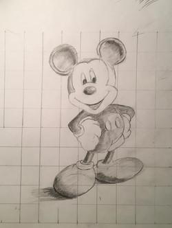 Микки Маус, карандаш. Автор_ Мария
