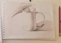 Кружка, карандаш. Автор: Виктория