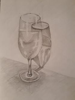Бокал, карандаш. Автор: Ольга