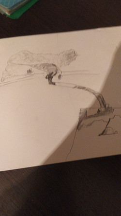 Дерево, карандаш. Автор: Мухаммед