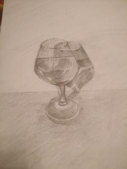 Бокал, карандаш. Автор: Анна