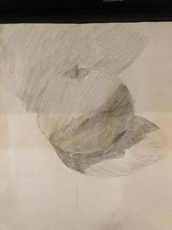 Яблоко,карандаш. Автор_ Святослав