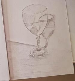 Бокал, карандаш. Автор_ Евгений