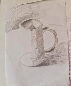 Кружка, карандаш. Автор: Евгений