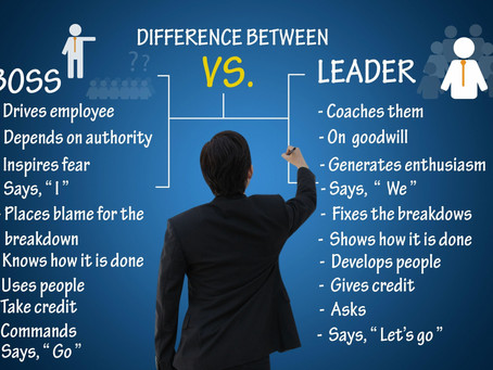 Bosses are not leaders