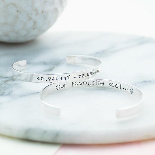 Coordinate Cuff Bracelet