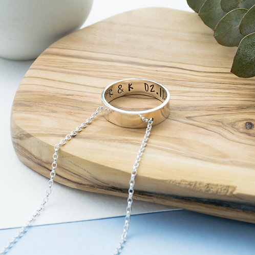 Secret Message Circle Necklace