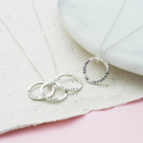 Organic Circle Necklace