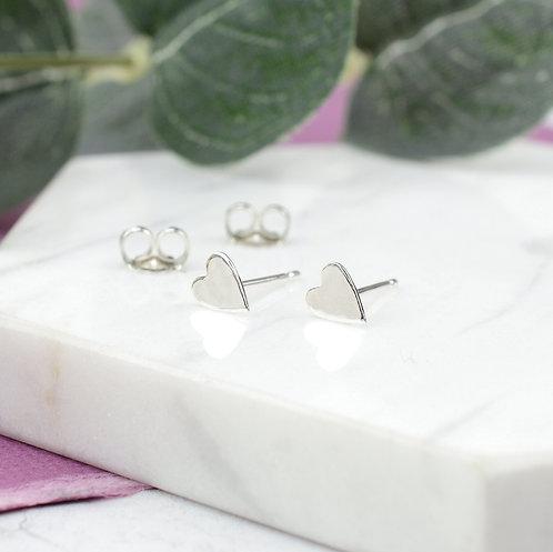 Tiny Heart Stud Earrings